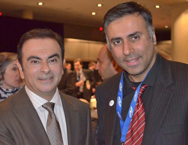Dr. Abbey with Carlos Ghosn President and CEO of Nissan