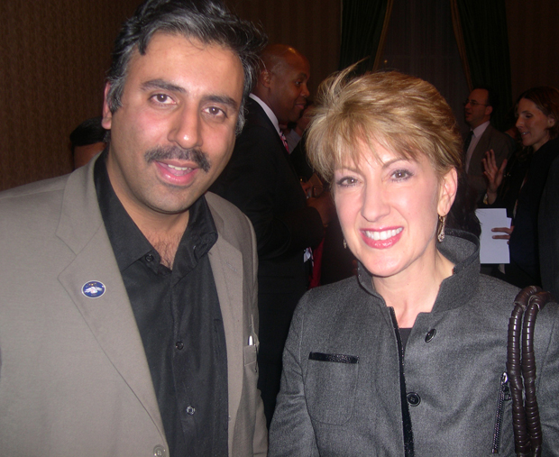 Dr.Abbey with Carly Fiorina Former CEO Hewlett-Packard