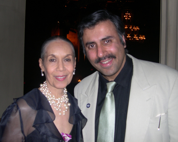 Dr.Abbey with  Carmen de Lavallade Co-Founder Alvin Ailey Dance Theatre