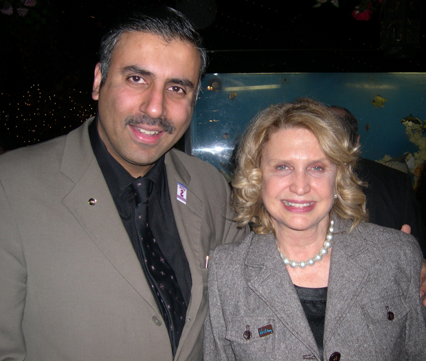 Dr.Abbey with Carolyn Maloney Congress member