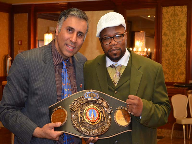 Dr.Abbey with Charles Murray former World Boxing Champ