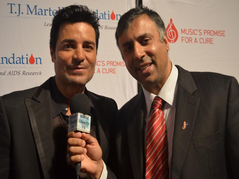 Dr.Abbey with Chayanne PR Latin Singer Actor