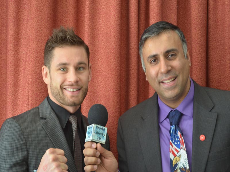 Dr.Abbey with Chris Algieri WBO Jr Welterweight Champion
