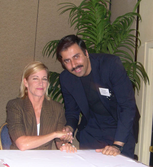 Dr.Abbey with Chris Evert Tennis Great