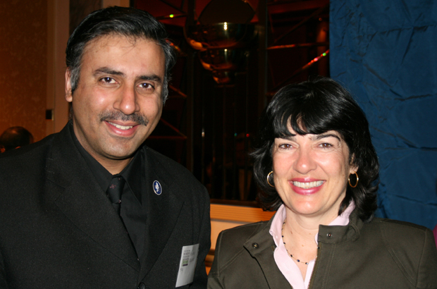 Dr.Abbey with Christiane Amanpour,CNN,Chief International Correspondent