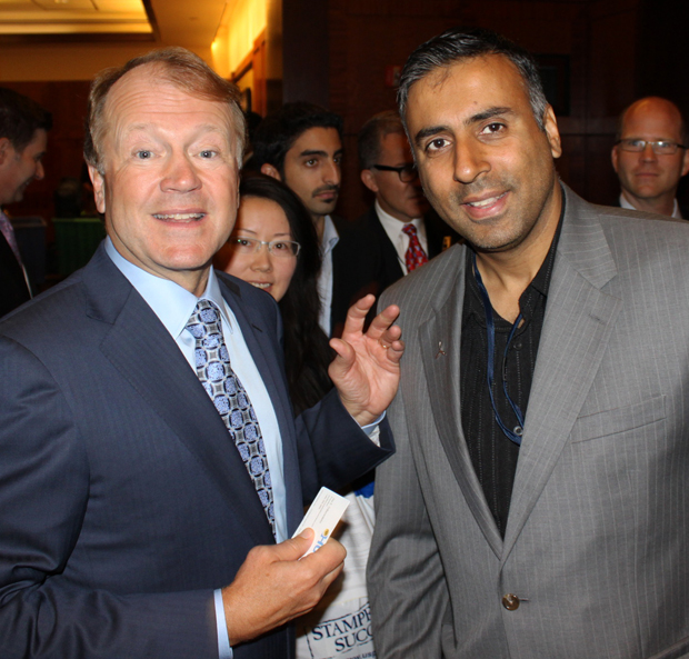 Dr.Abbey with Cisco Systems President and CEO John Chambers