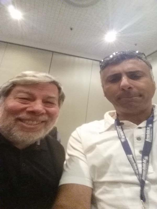 Dr.Abbey with Co-Founder Apple Steve Wozniak