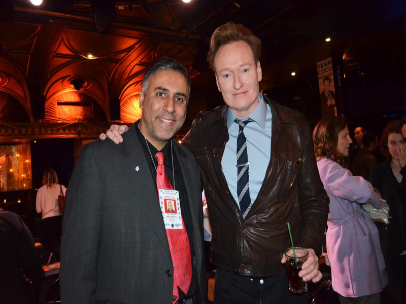 Dr.Abbey with Conan O' Brien Comedian