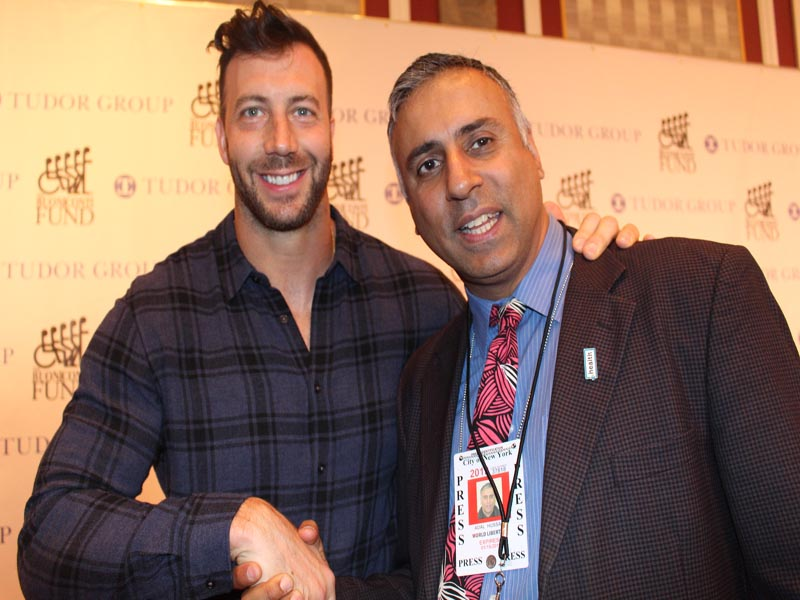 Dr.Abbey with Connor Barwin NY Giants Linebacker