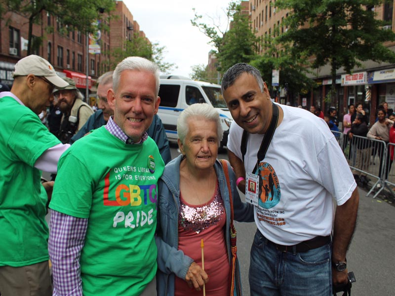 Dr.Abbey with Council Member Jimmy Van Bramer & his mother