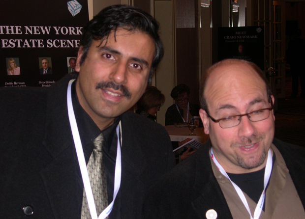 Dr.Abbey with Craig Newmark Customer Service Rep  & Founder Craigslist