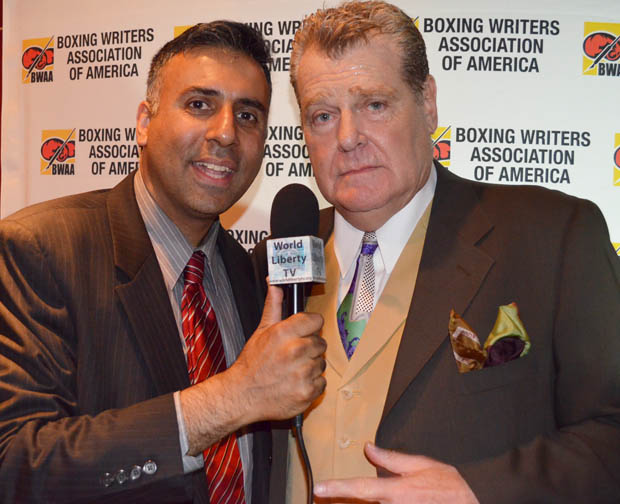 Dr.Abbey with Dan Goossen Boxing Promoter