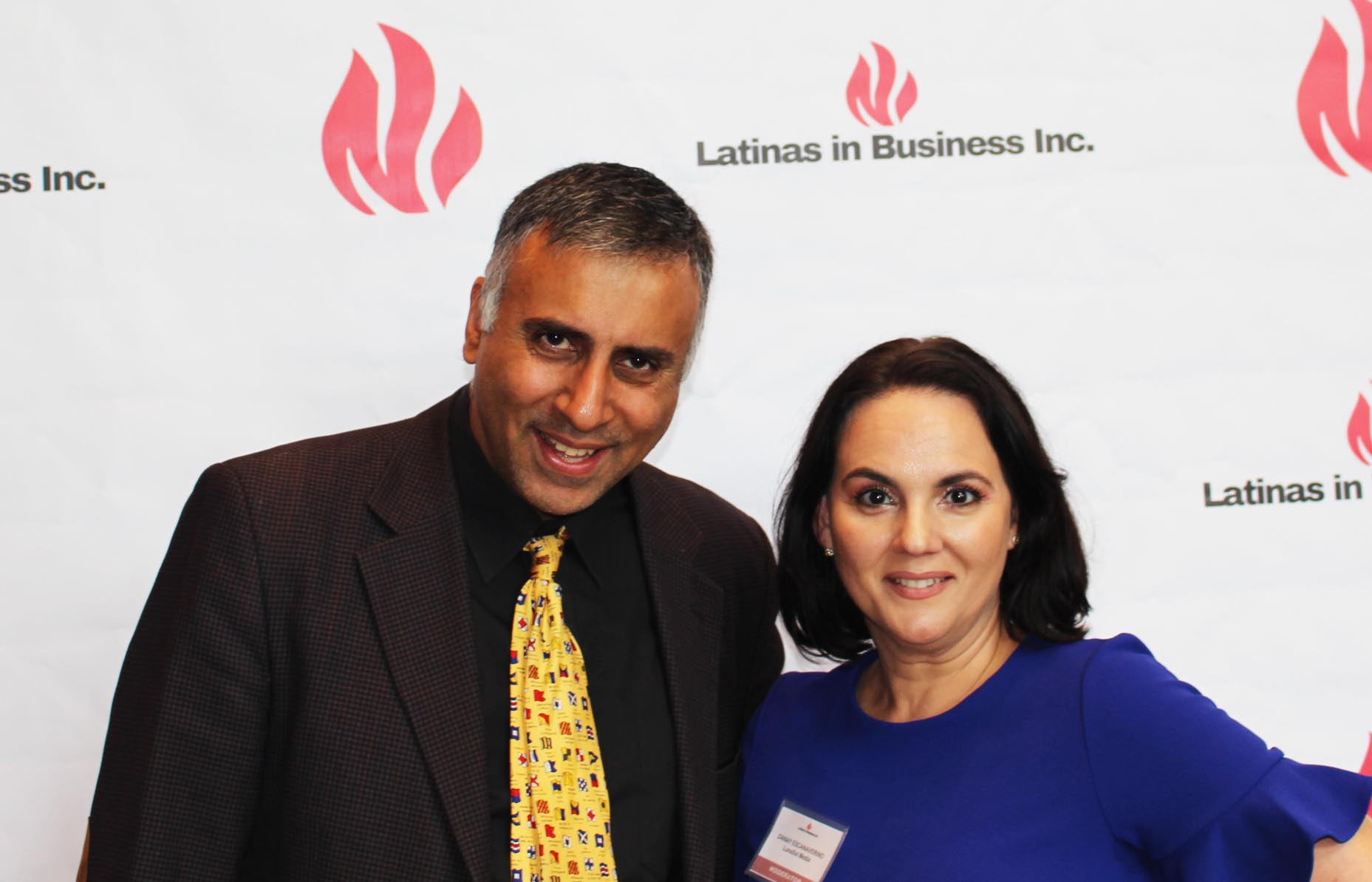 Dr.Abbey with Danay Escanamerino CEO of Lunasol media and Latina meetup