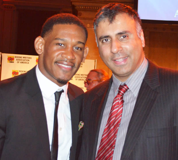 Dr.Abbey with Daniel Danny Jacobs Boxer