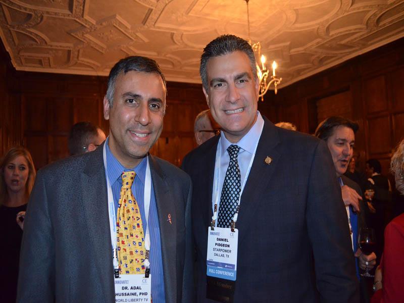 Dr.Abbey with Daniel Pidgeon Chairman of Starpower