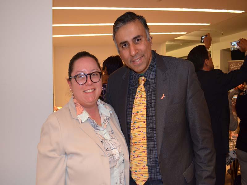 Dr.Abbey with Dara Lustgarten President  NYLPR Women Inc
