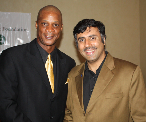 Dr.Abbey with Darryl Strawberry ,former Yankees player