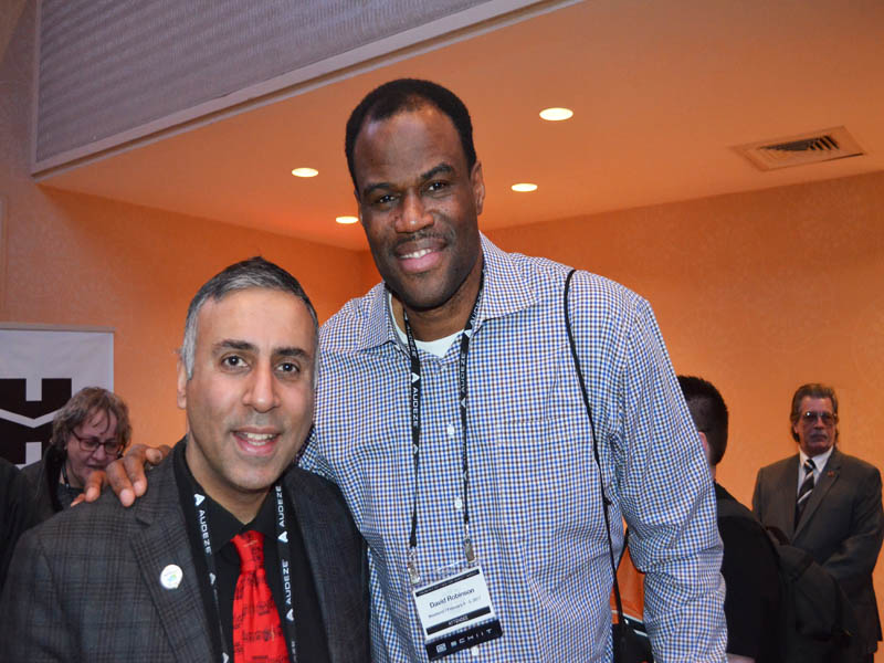 """Dr.Abbey with David """"Admiral"""" Robinson NBA Great"""