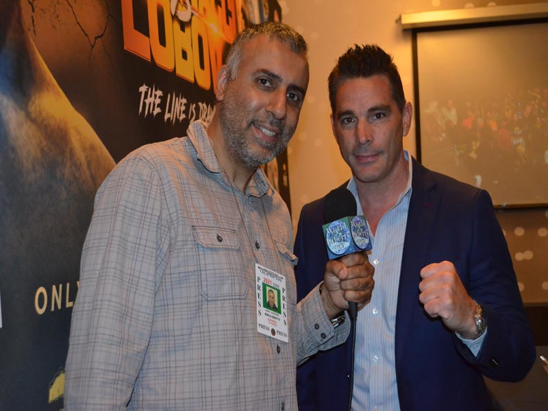 Dr.Abbey with David Feldman President & CEO Bare Knuckle Fighting Championships