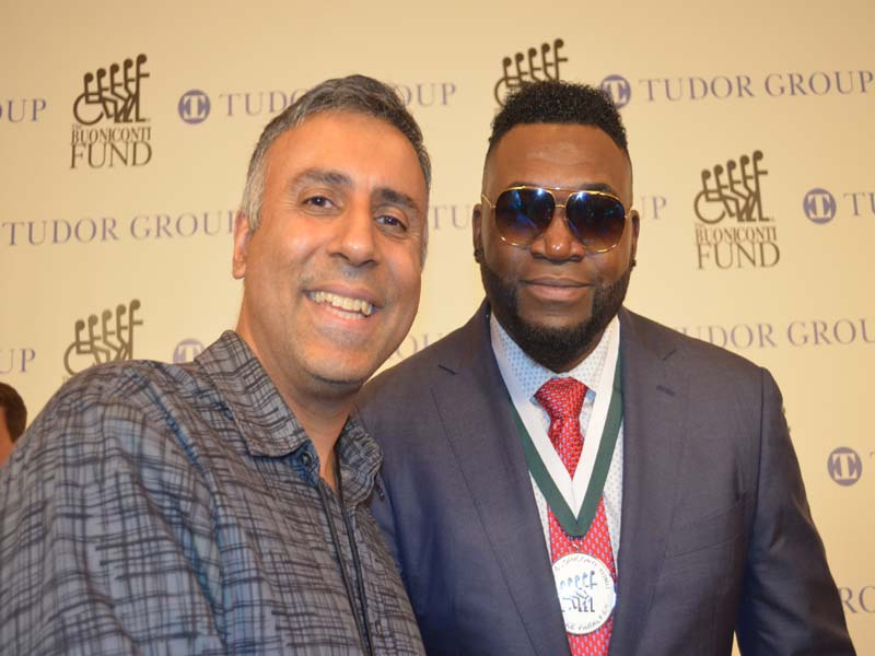 Dr.Abbey with David Ortiz 3 Time World Series Champ with Boston Red Sox