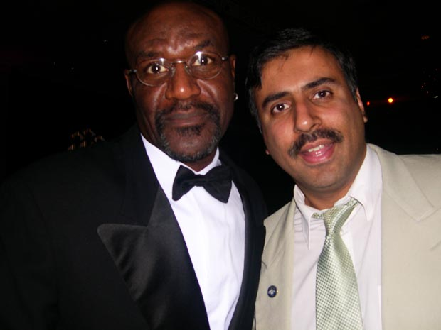 Dr.Abbey with Delroy Lindo Actor