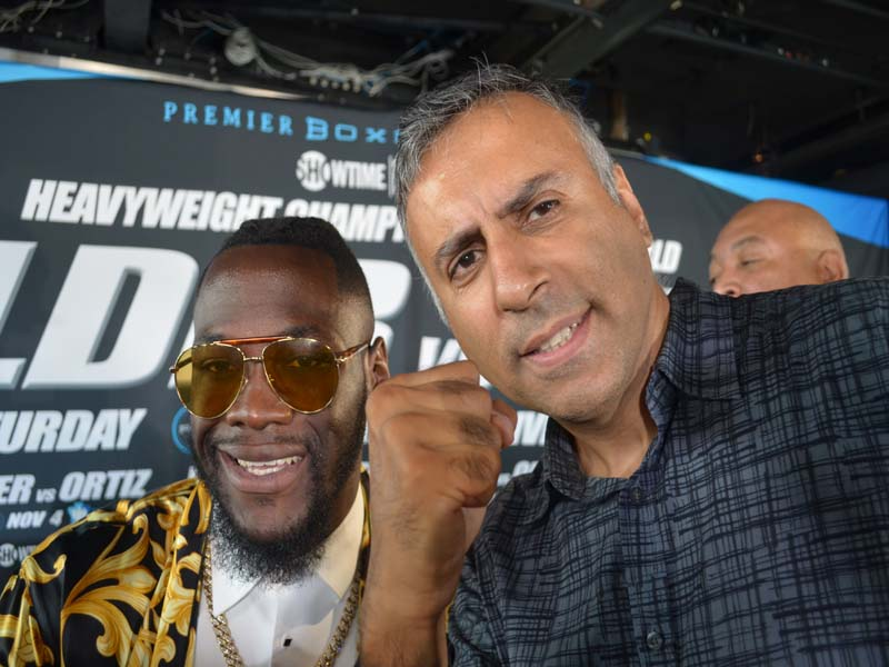 Dr.Abbey with Deontay WIlder WBC World Heavyweight Boxing Champion