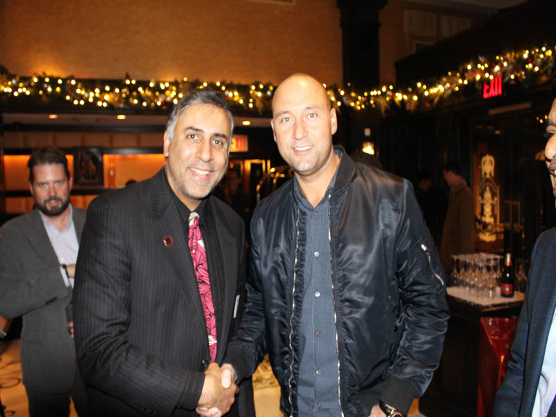 Dr.Abbey with Derek Jeter Shortstop for NY Yankees & CEO of Miami Marlins