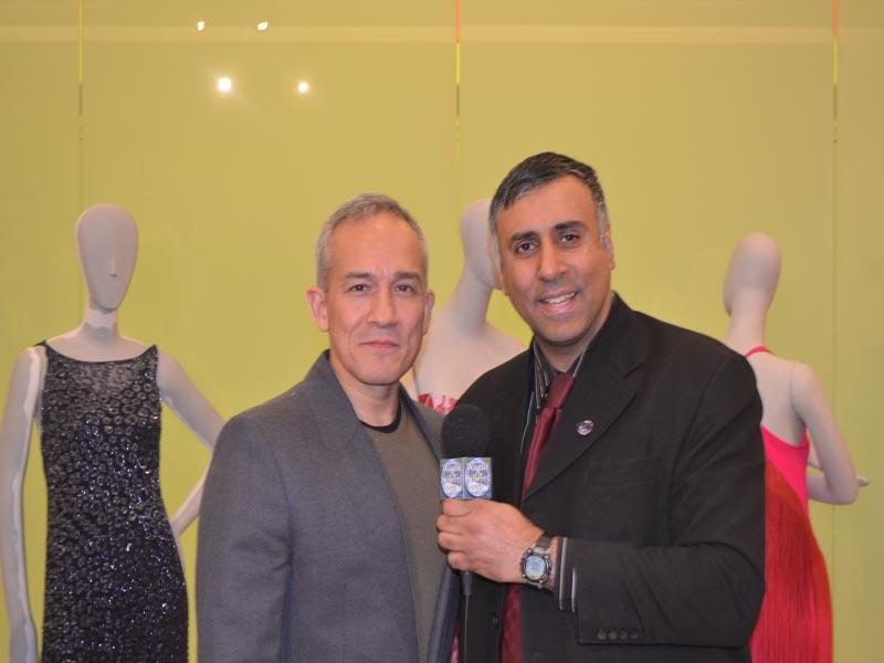 Dr.Abbey with Designer Cesar Galindo