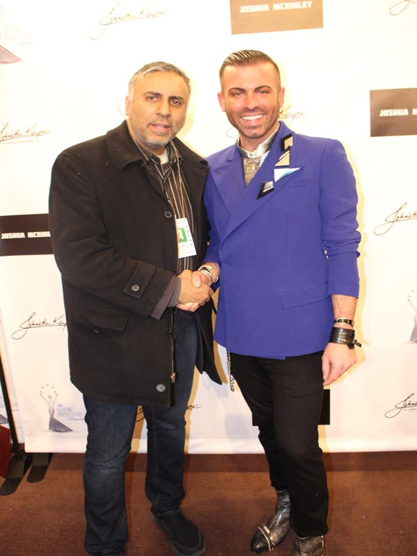 Dr.Abbey with Designer Joshua McKinley