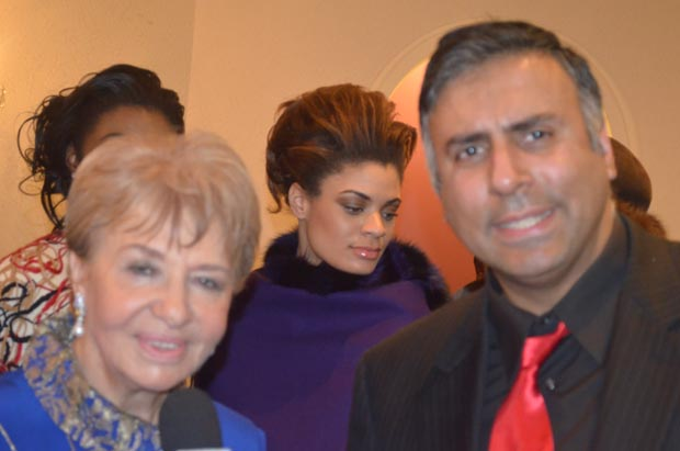 Dr.Abbey with Designer Loula Loi Alfoyiannis Greece & Usa