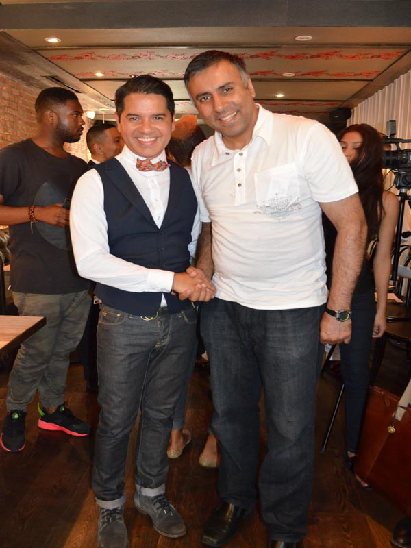 Dr.Abbey with Designer Mauricio Alpizar