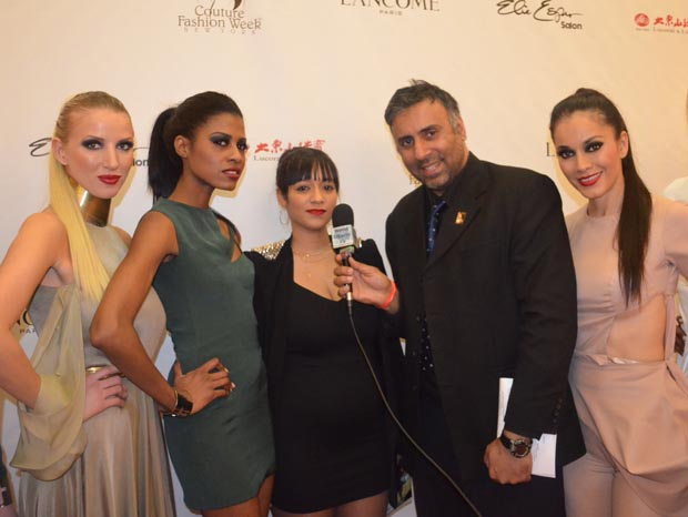 Dr.Abbey with Designer Sinead Fachelli with her models