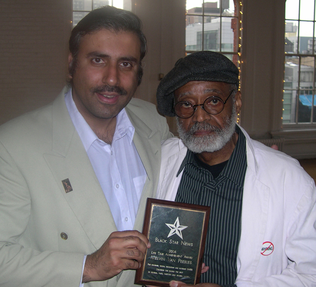 Dr.Abbey with Director Melvin Van Peebles