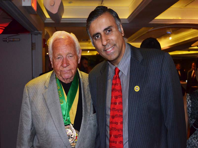 Dr.Abbey with Don Chargin Boxing Promoter
