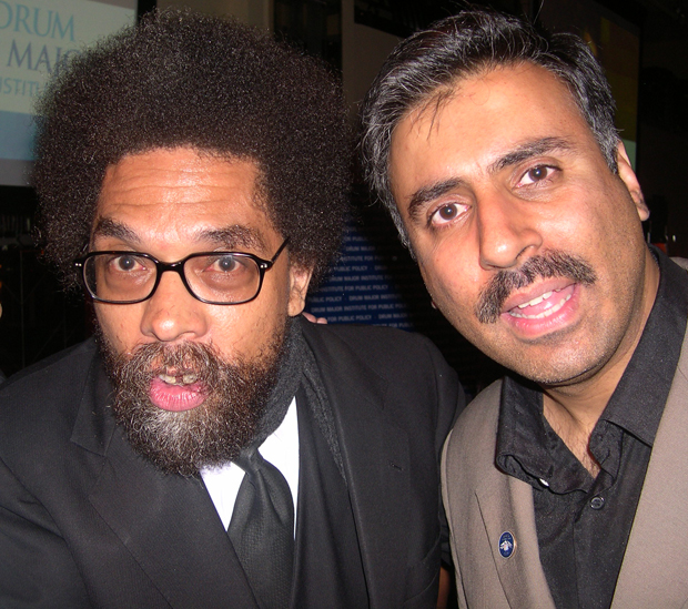 Dr.Abbey with  Dr Cornel West