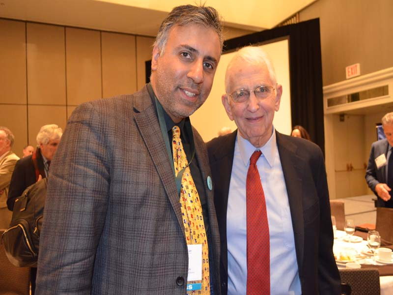 Dr.Abbey with Dr Daniel Ellsberg former military analyst who leaked the Pentagon Papers in 1971