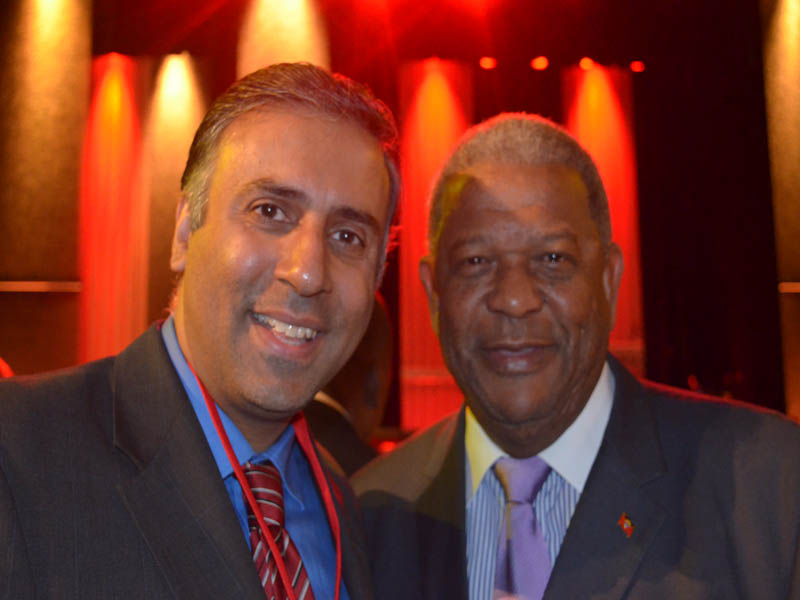 Dr.Abbey with Dr.W Baldwin Spencer PM of Antigua and Baruda