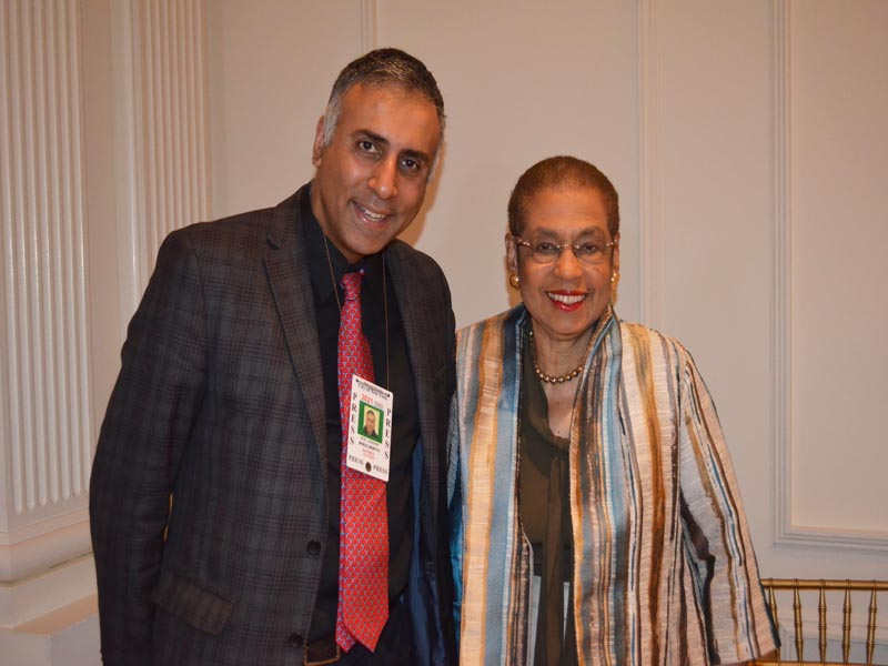 Dr.Abbey with Eleanor Holmes Norton Congress Member
