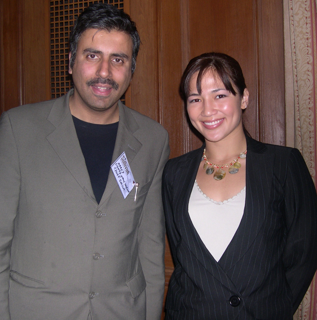 Dr.Abbey with Elisa Au 3 Time World karate Champion