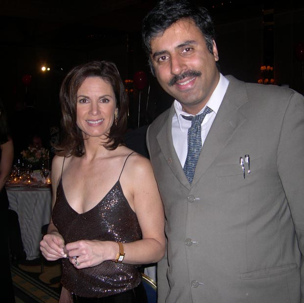 Dr.Abbey with  Elizabeth Vargas Newscaster