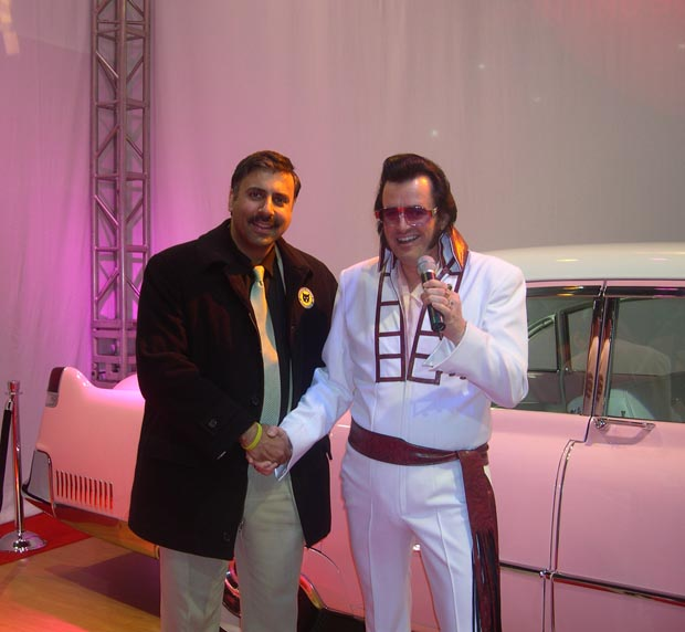 Dr.Abbey with Elvis Impersonator