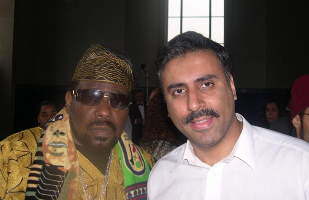 Dr.Abbey with  Entertainer Africa  Bambaataa