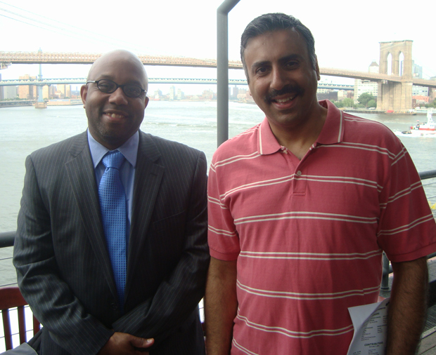 Dr.Abbey with Errol Louis  host of NY1's Inside City Hall