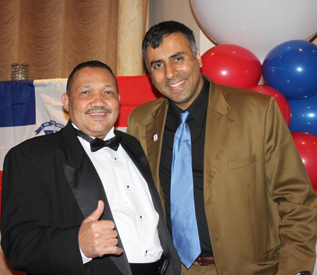 Dr.Abbey with Felipe Febles President of Dominican Bronx Parade