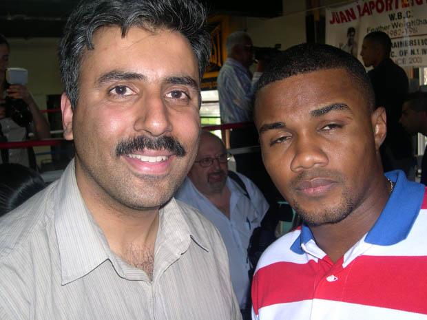 Dr.Abbey with Felix Trinidad