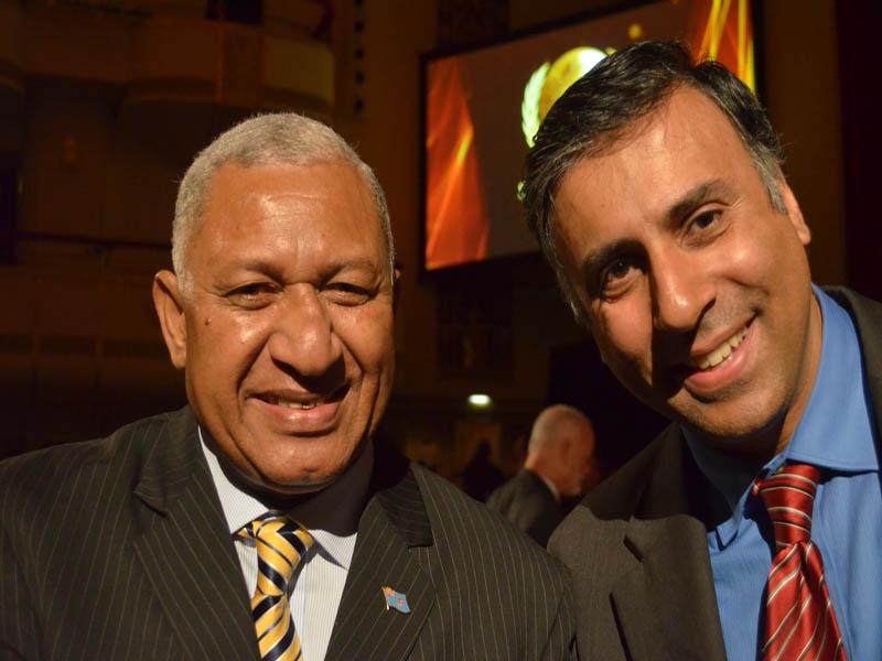 Dr.Abbey with Fiji Prime Minister Josaia Voreqe Bainimarama