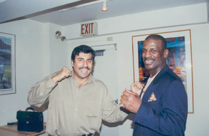 Dr.Abbey with Former 2 Time Boxing Great Michael Spinks