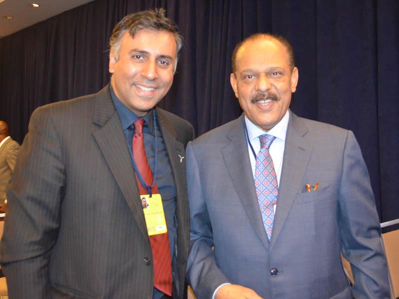 Dr.Abbey with Former Amb of Qatar to Wahington DC, Bader Omar Al Dafa