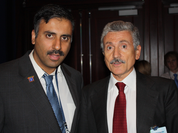 Dr.Abbey with Former Italian Prime Minister Massimo D'Alema