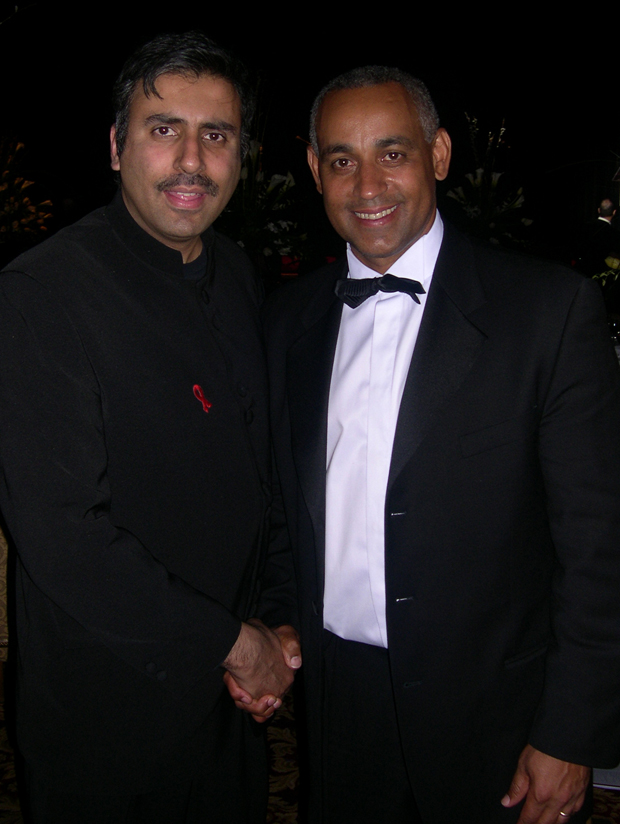 Dr.Abbey with Former  Mets General  Manager Omar Minaya
